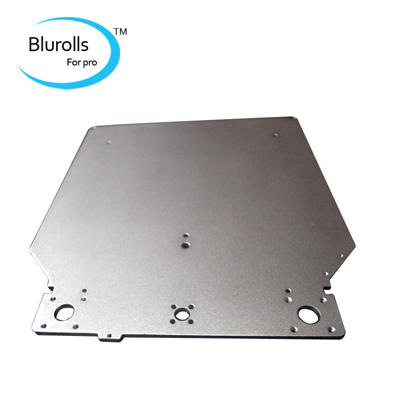 Duarable UM2 Ultimaker 2 3d printer DIY aluminum alloy print table base plate platform 303.5*257*4mm oxidation treatment surface ultimaker 2 extended assemble frame plate for diy 3d printer aluminum composite plate 6mm thickness case housing 350 390 340