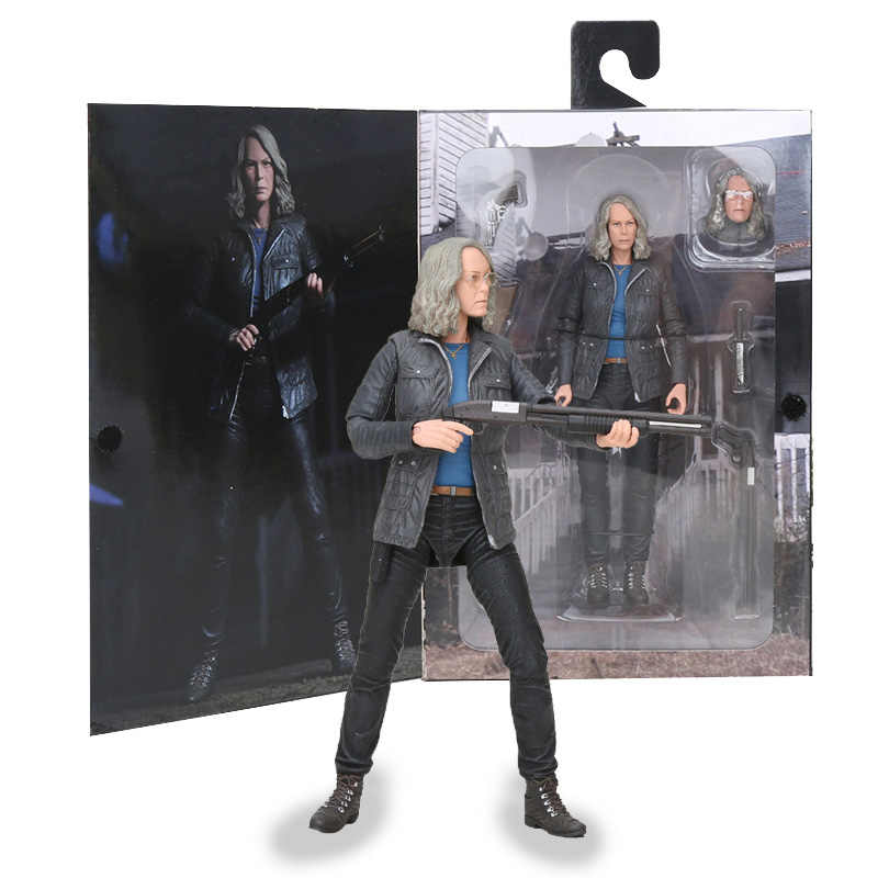18cm neca halloween final laurie strode neca figura de ação collectible modelo brinquedos presentes do dia das bruxas