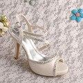 Wedopus MW331 Cetim Marfim Sandálias de Casamento Sapatos De Salto Alto 2016 Sapatos de Noiva