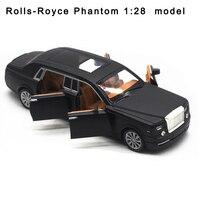 1:28 Extended Rolls Royce Phantom Four Door Alloy Car Model Acousto Optical Return Car Car Model Gift Pendant Toys