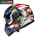 Full face motorcycle helmet glass fiber reinforced plastic fiber High-end full face double lens  LS2 FF396