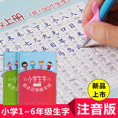 2 Pcs Children Basic Strokes / Pinyin / Groove Copybook Chinese Radicals Common Character Exercise Kindergarten Baby Pre-school