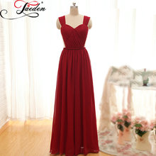 JAEDEN Sweetheart Bridesmaid Dresses Floor Length Chiffon Sleeveless Elegant Custom Size and Color E094 A Line Party Gowns 2017
