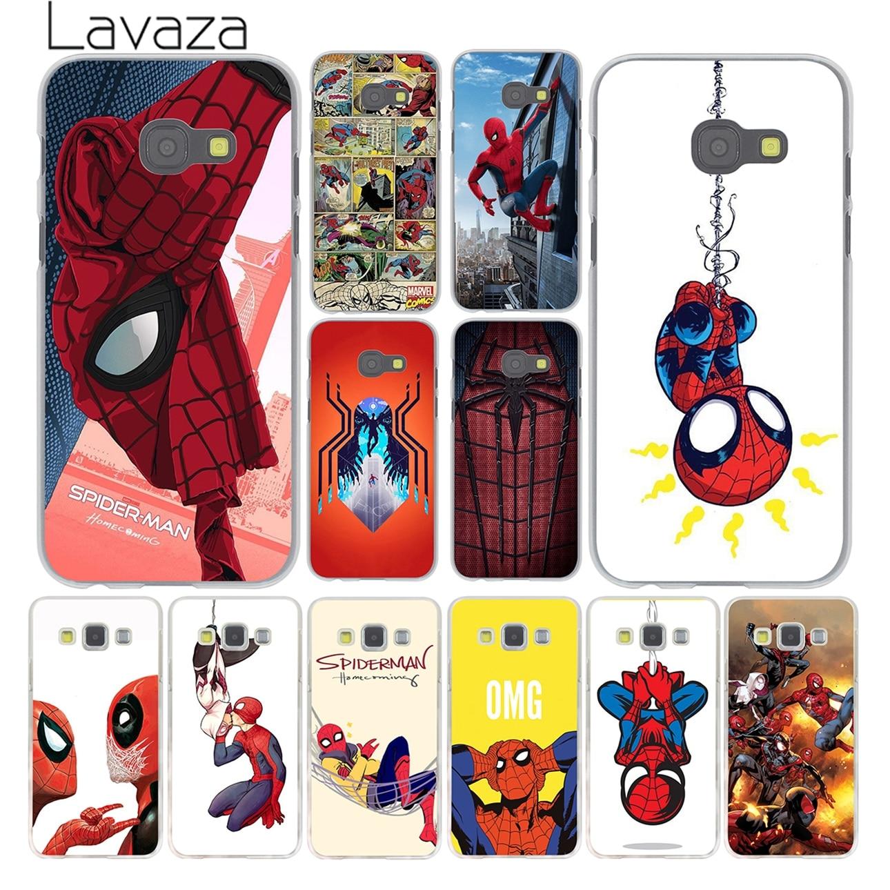 Lavaza Marvel <font><b>Spider</b></font>-<font><b>Man</b></font> <font><b>Spider</b></font> <font><b>Man</b></font> <font><b>Comics</b></font> Case for <font><b>Samsung</b></font> <font><b>Galaxy</b></font> A3 A5 J3 J5 J7 2015 2016 2017 & Grand Prime Note 5 4 3 2