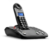 Topcom Butler 4056 DECT cordless telephone with digital answering machine & base dialling Caller ID Black telephone Europe type