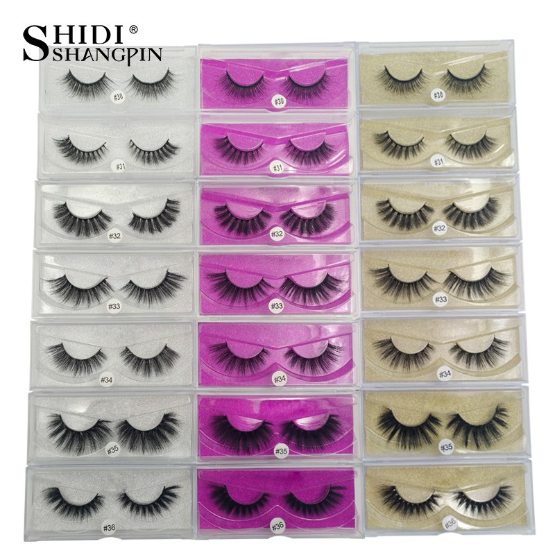 SHIDISHANGPIN 20 Pairs Mink Lashes 3d Natural Long Fake Eyelashes Hand Made Wholesale Lashes Mink Makeup Beauty Mink Eyelashes mink keer 2 4xl