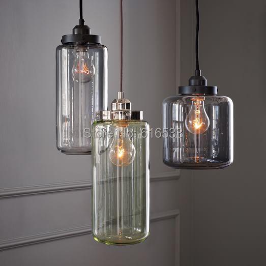 Vintage Loft Industri 235 Le Amerikaanse Lustre Glas Jar