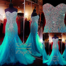 Mermaid Strapless Floor Length Voile / Sequined Bridesmaid Dress with Sparkle & Shine Crystals Sweetheart Neckline