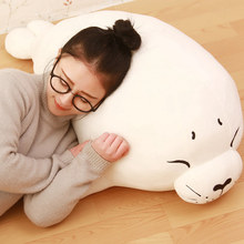 Hot 40/60/80cm/100cm Soft Sea Lion Plush Toys Sea World Animal Seal Stuffed Doll Baby Sleeping Pillow Kids Girls christmas Gifts(China)