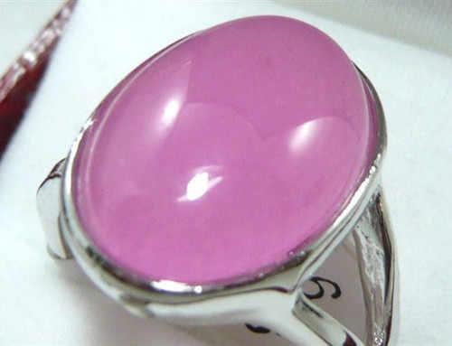 ที่สวยงามสีชมพู agates ลูกปัดแหวน (#6,7, 8)