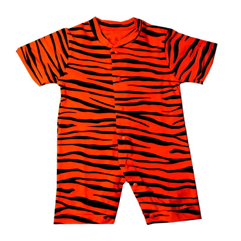 Newborn Baby Rompers Short Sleeve Cotton Baby Clothes Baby Infant Cartoon Tiger Clothing Romper Kids Gifts 2017 Summer cotton i must go print newborn infant baby boys clothes summer short sleeve rompers jumpsuit baby romper clothing outfits set
