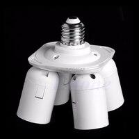 4 в 1 E27 базы светодиодный свет лампы адаптер держатель гнезда сплиттер для Softbox R06 Прямая поставка