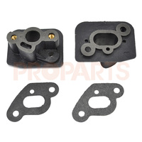 2Set Intake Manifold Gasket Fit 1E36F 33CC CG330 TL33 Brush Cutter Grass Strimmer Spare Parts