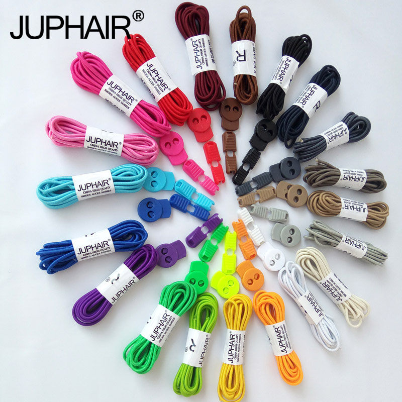 JUP 8 Pairs 1 m Round Colored Shoes Laces for Children Fashion Elastic Rubber Adjustable Shoelaces Fashion Lazy Shoelaces String