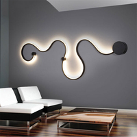 Modern LED Wall Lamps for Bedroom Study Living Balcony Room Acrylic Home Deco In White Lights Iron Body Sconce Lights Fixtures