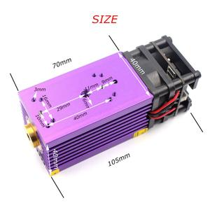 Image 4 - OXLasers 450nm 15W Blue Laser Module 15000mW Laser Head for DIY Laser Engraving Cut with PWM Purple Heat Sink Cutting Plywood