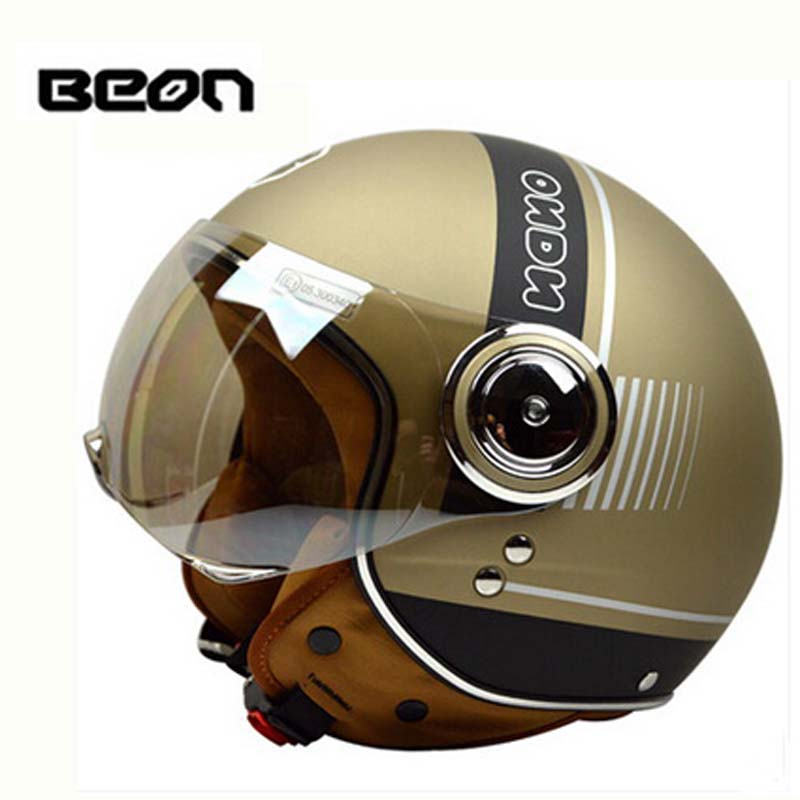 Golden ECE BEON B110B motorcycle helmet for women men, Kick scooter electric bicycle motobike helmets,size M L XL 2017 new flower girls dresses for wedding gown ball gown vintage communion dresses ankle length mother daughter dresses with bow