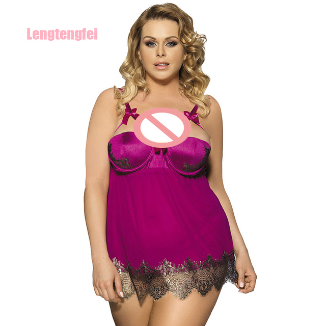9dc0bcfee82 Hot Plus Size Lingerie Sexy Pajamas Strip Steel Padding Condole Belt  Nightgown Lingerie For Women