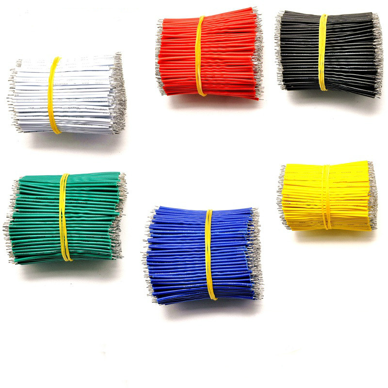 100PCS/Lot Tin-Plated Breadboard PCB Solder Cable 24AWG 5cm Fly Jumper Wire Cable Tin Conductor Wires Connector Wire