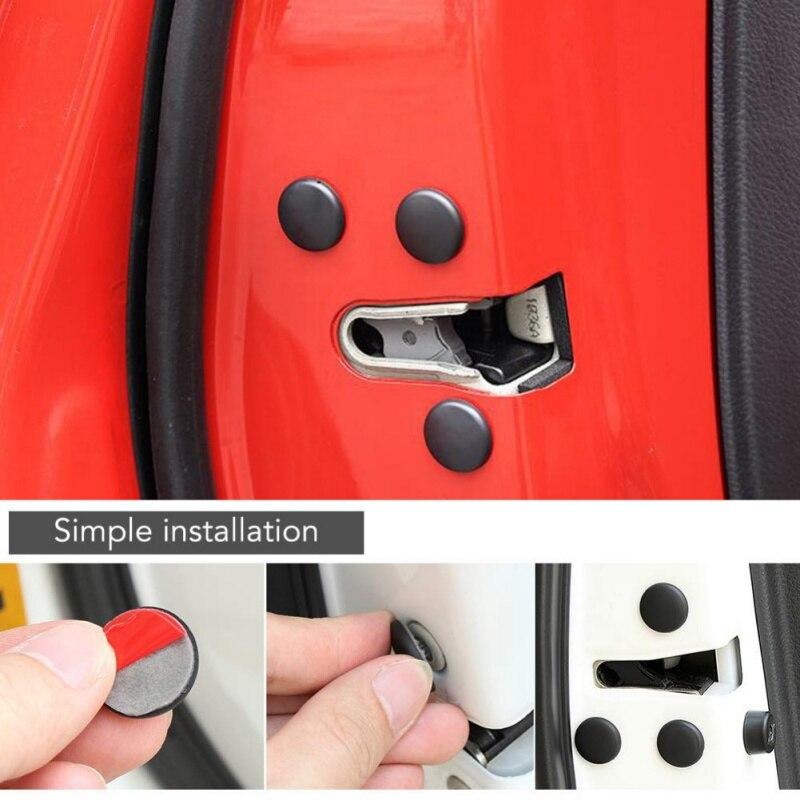 ABS Door Lock Screw Protector Cover Cap Trim Car Interior Accessories 12X NEW