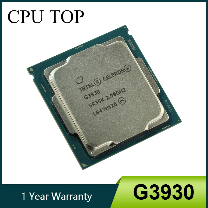 Двухъядерный процессор Intel Celeron G3930, 2,9 ГГц, 2 Мб кэш-памяти, процессор SR35K LGA1151 Tray