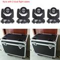 4x com 2 dupla flight cases equipamentos de luz dj luz em movimento da cabeça sharpy feixe 230 7r