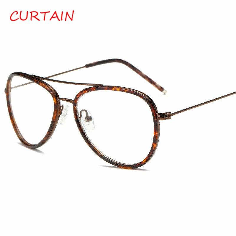 Mode Vintage Frauen Gläser Große Rahmen Männer Metall Brille ...