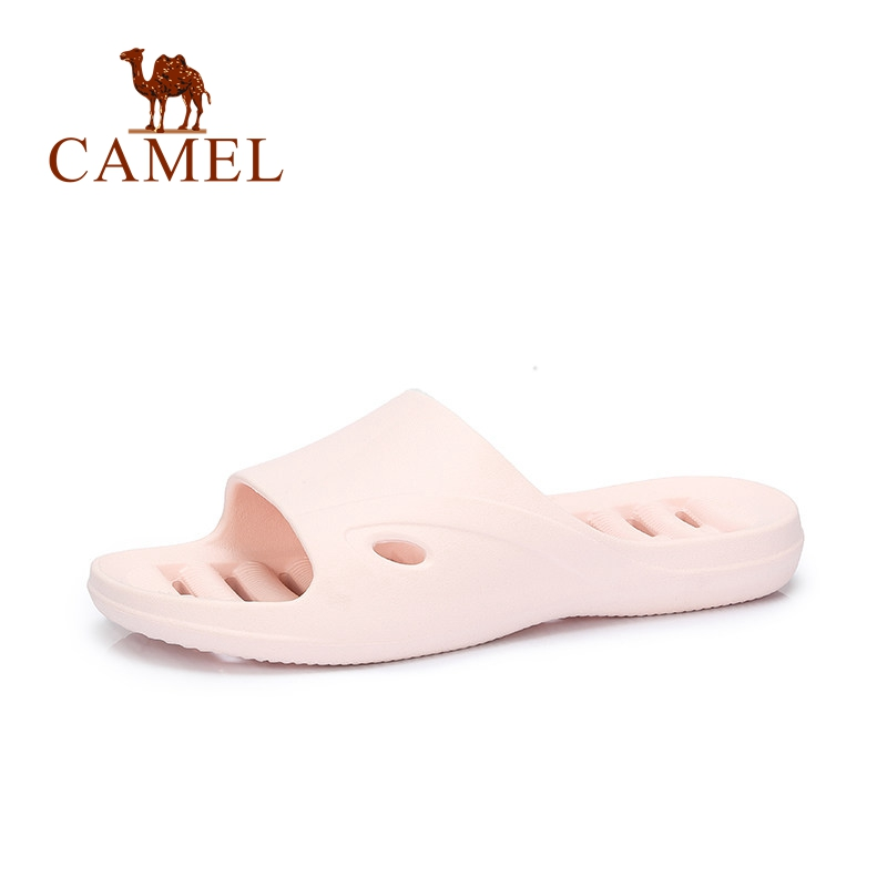 CAMEL Women Casual Indoor Slippers Basic Bathroom Soft Plastic Flat Home Hallow Slippers Slides Flip Flops Female Shoes New bathroom slippers slip bath leaking water home shoes women slippers plastic home lovers slides slippers summer flip flops