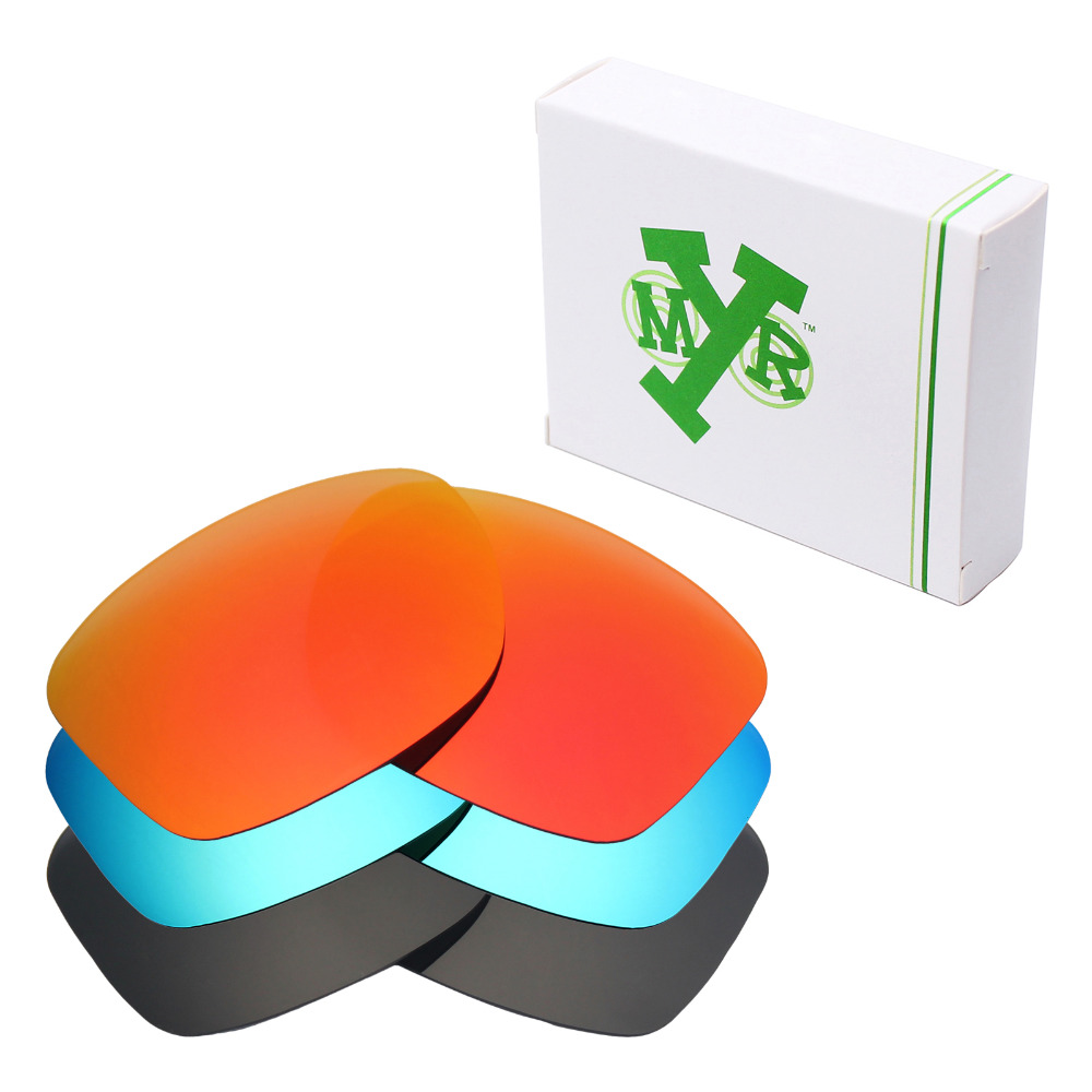 3 Pairs Mryok POLARIZED Replacement Lenses for Oakley Jupiter Squared Sunglasses Stealth Black Ice Blue Fire