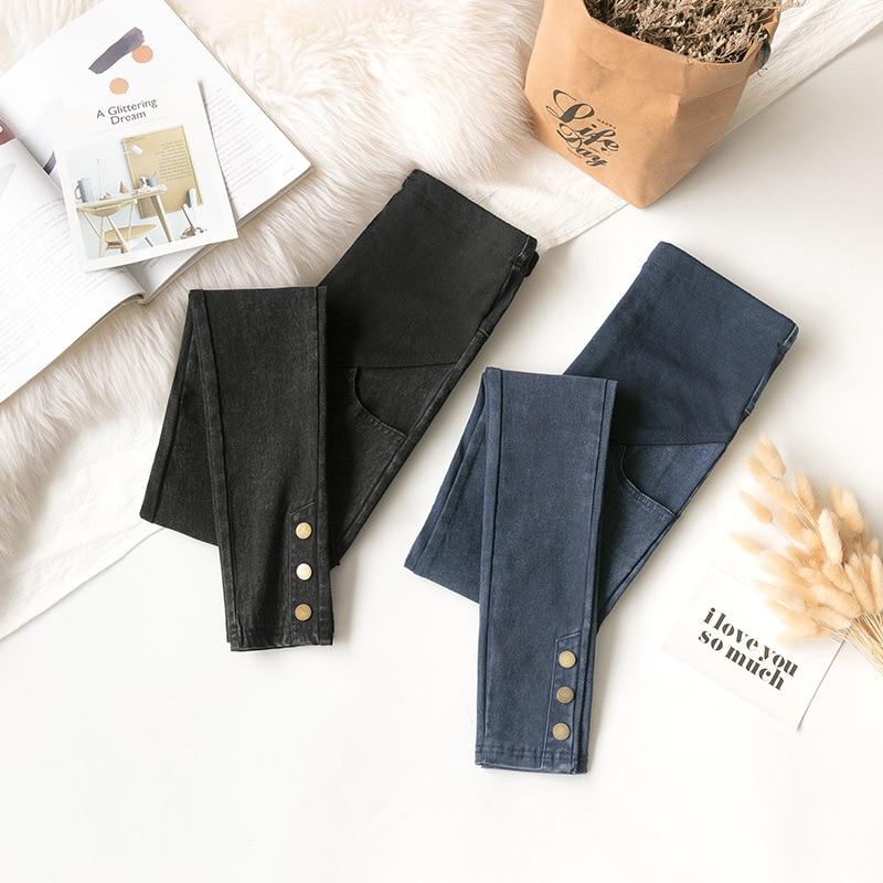 Button Denim Jeans Maternity Pants For Pregnant Women Clothes Nursing Pregnancy Leggings Trousers Elastic Maternity Clothing
