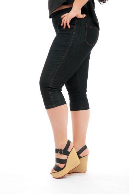 Wimen's Denim Plus Size Capris Pants 2 colors L-8XL