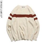 European Size New Autumn Winter Loose Vintage Sweater Men Fashion Pullovers Falling Shoulder O Neck Men