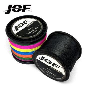 JOF 300M 500M 1000M 8 Strands 4 Stränge 10-80LB PE Geflochtene Angel Draht Multifilament Super Starke Angeln linie Japan Multicolor