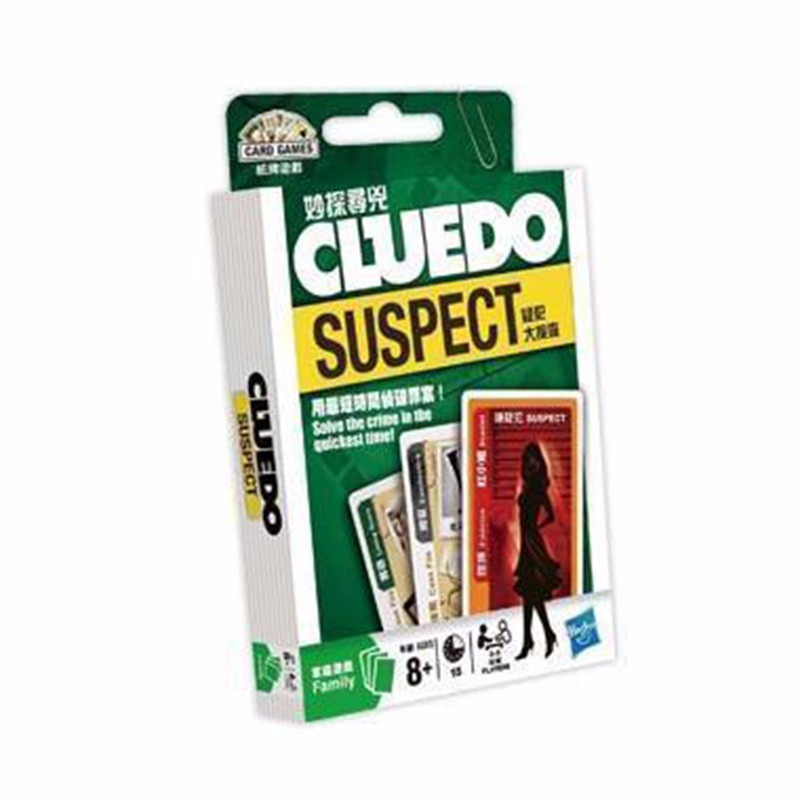 Cluedo Suspect Board Game Mental Logical Reasoning Card Game English Instructions