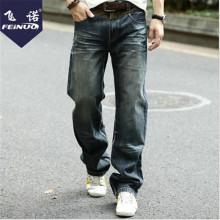 Plus Size Vintage Fashion Men Autumn And Winter Jeans Hip Hop Mens Jeans Brand Vintage Pants Straight Male Pants Wt1359