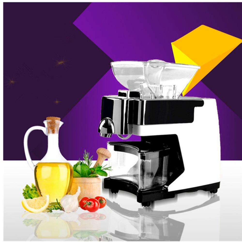 Presseur d'huile de noix de coco à vis en acier inoxydable à usage domestique expulseur presse à huile chaude à froid machine à huile de sésame d'arachide 220 V ou 110 V