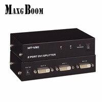 MT VIKI 2 Port DVI Splitter Distributor Video Sharing 1 Input To 2 Output Multiple LCD