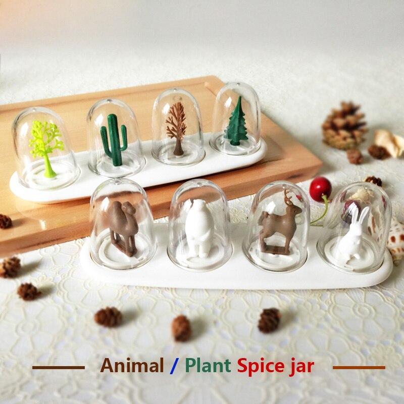 Plants animals season flavor spices jar condiment bottles salt cactus pine trees bear deer camel rabbit Free shipping multicolored led auto wheels light 2 set