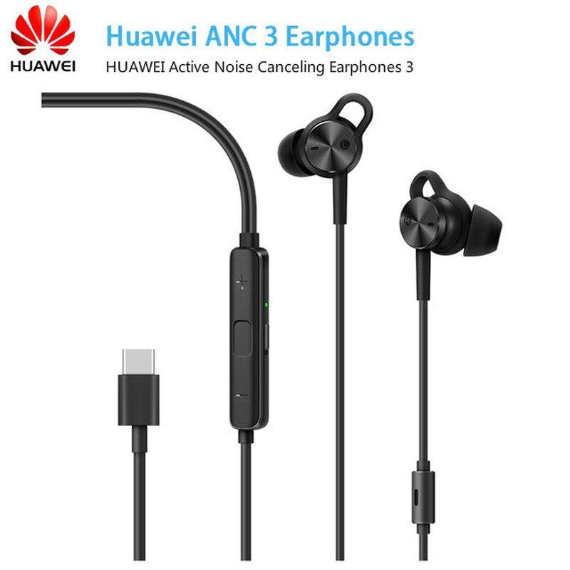 Huawei ANC 3 HUAWEI écouteurs antibruit actifs 3 haute qualité musique Usb type-c réduction du bruit du micro sans Charge