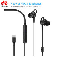 Huawei ANC 3 HUAWEI Active Noise Canceling Earphones 3 Hi Res Quality Music Usb Type C Charge Free Mic wind noice reduction
