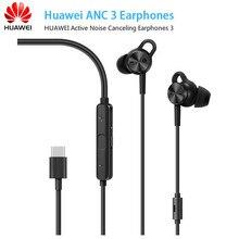 Huawei ANC 3 HUAWEI aktywne słuchawki z redukcją hałasu 3 hi res jakość muzyka usb type c Charge darmowy mikrofon redukcja szumów wiatrowych