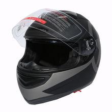 New Dot Star Matte Black Dual Visor Full Face Adult Motorcycle Helmet+Sun Shield S-XXL