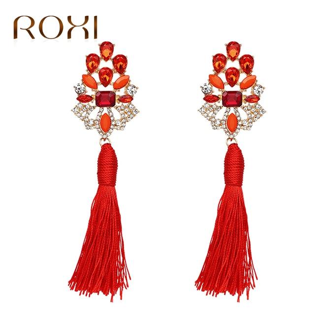 ROXI 2017 Brincos Women Wedding Tassel Earrings Handmade Ethnic Bohemian Rhinestone  Drop Dangle Earrings for Women 31010739de41