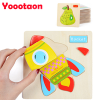20sets 3D Wooden Puzzles Infant Baby Development Toys Animal Fruit Transportation Insect Educational Toys For Newborn