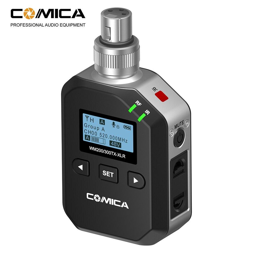 COMICA UHF 96-canaux et 60 m Distance de Travail En Métal Sans Fil PLUG-SUR XLR Émetteur pour XLR microphone