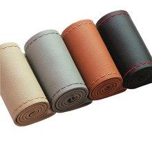 GNUPME – housses universelles pour volant de voiture, en cuir, avec aiguilles et fil, 6 couleurs, pour bricolage, 38 cm