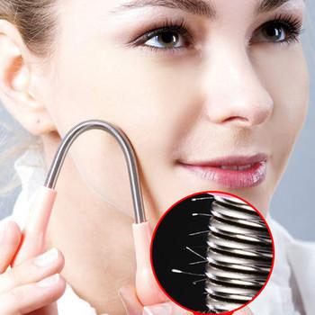 1 2 sztuk do czyszczenia twarzy sztyft do twarzy do usuwania włosów delikatne mikro wiosna instrukcja depilacja depilacja golenie kobiety TSLM1 tanie i dobre opinie YOVIP CN (pochodzenie) Brak