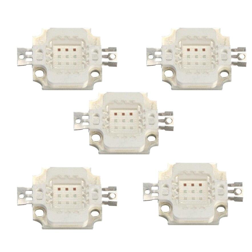 5x10 W Haute Puissance LED RGB Chip Ampoule Lampe Projecteur DIY