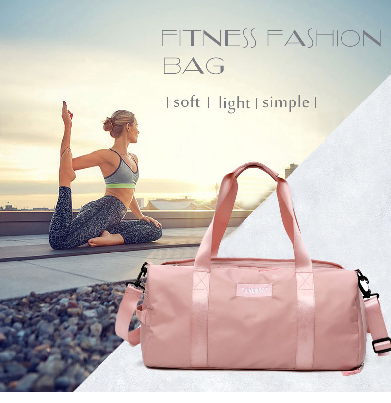 Fitness Training Sports Travel Handbag  Waterproof Nylon Gym Bag for Men and Women