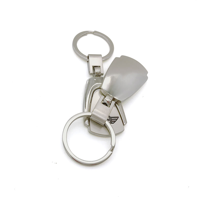 b0e4af20ac for mini cooper S Countryman R series car styling trapezoidal Keychain Zinc Alloy  Key Chain Car Key Ring metal car styling